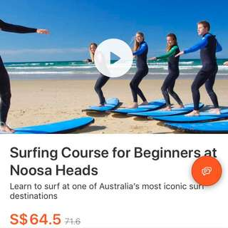 Discounted Surfing Course for beginners at Noosa Heads Tickets