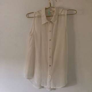 White Sleeveless H&M