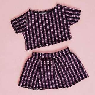 Pink Purple Knit Kids Boho Coordinate. 1-2y.o.