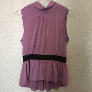 TURTLE/HIGH NECK PURPLE BLOUSE