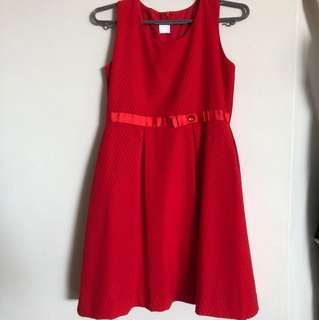 Red children dress