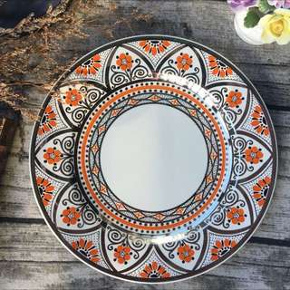 英國製百年歲月Wedgwood Queen's ware皇后御用瓷器罕見手繪瓷盤