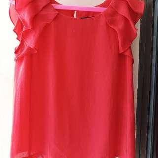 Zara Basic Top Red
