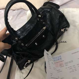 Balenciaga city small black