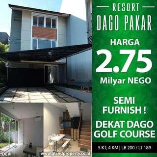 Rumah Semi Furnished di Dago