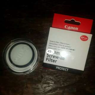 ORI Canon 49mm UV protect filter