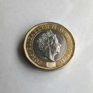 Royal Mint Rare 2016 New 12 Sided Brilliant uncirculated £1 One Pound Coin