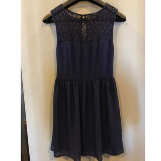 Forever 21 dark blue lace dress