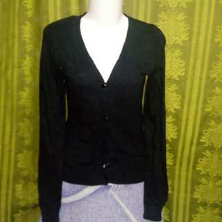 Kardigan hitam hnm like new