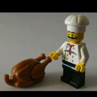 Lego Minifigs Chef 廚師連燒雞