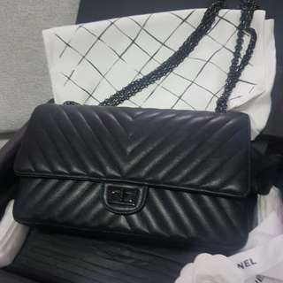 Final reduced sale $6300 !Chanel So Black Reissue Large Size