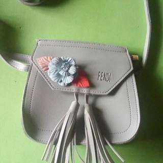Gray kawaii bag