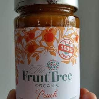 100%有機純蜜桃果醬
