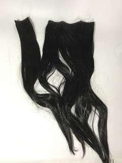 Hair extension lurus hitam