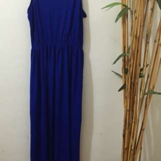 H&M Maxi Dress/Maternity Dress (blue)