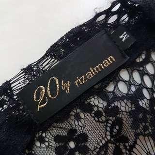 20 by Rizalman Kebaya top in Black Lace top