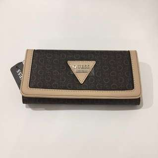 Guess Brown Monogram Wallet