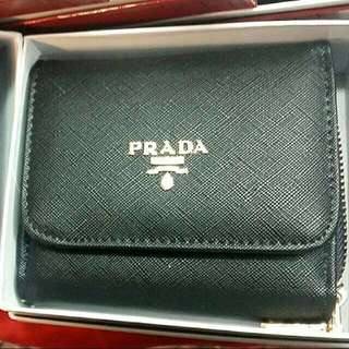 Prada Bi Fold Wallet Black