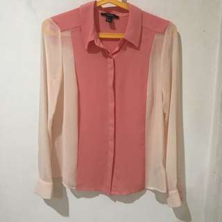 Forever 21 pink two toned long sleeves