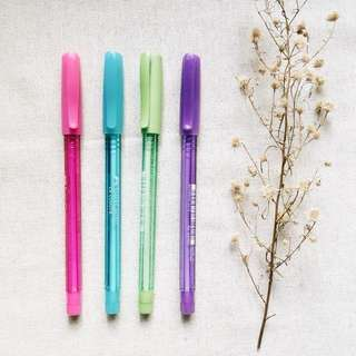 Faber Castell Colored Ballpens (SOLD AS SET)