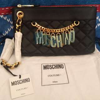 Moschino Clutch (Deep Blue)