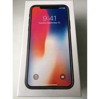全新香港行貨 iPhone X 64gb 黑 / 太空灰 (Black / Space Grey) iPhoneX 64g 64 Apple