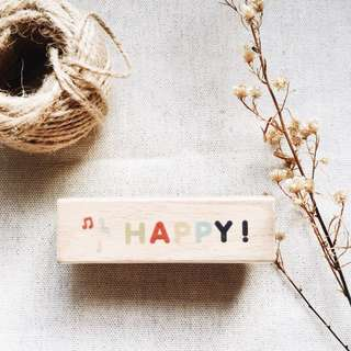 HAPPY! Rubber Stamp (Journal/Planner)