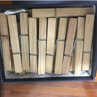 22 Wooden Pegs