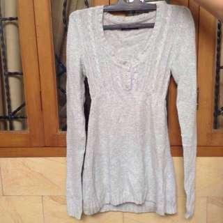Sweater Zara Original Abu-Abu