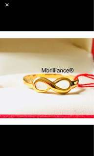 Infinity gold ring - 916 gold mbrilliance