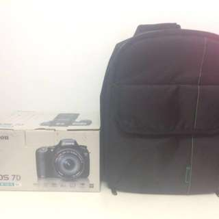 Canon eos 7d box + INDEPMAN Dslr BAG