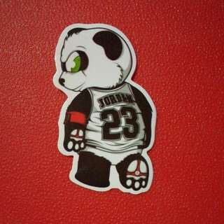 Jordan 23 Panda Bear Waterproof Decal