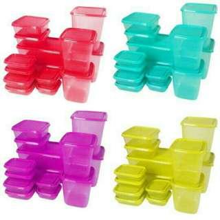 Kotak penyimpanan sealware 1 set BPA Free
