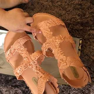 SIZE 6 : Melissa Women's Campana Barroca Sandals Gladiator Sandal