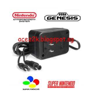 [BN] SFC / SNES / NES / Megadrive / Genesis Universal AC Adapter (Brand New)