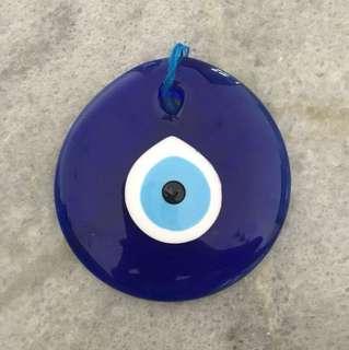 Evil eye in glass