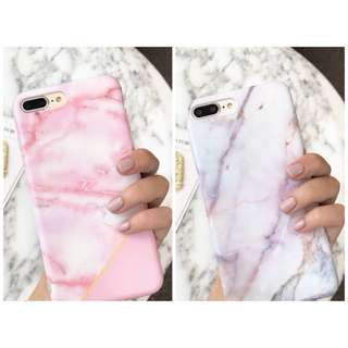 PO(294) Pink Purple Marble Line iPhone Phone Case
