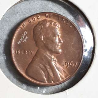 1967 USA One Cent Coin
