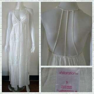 Xhilaration White Beach Maxi Dress