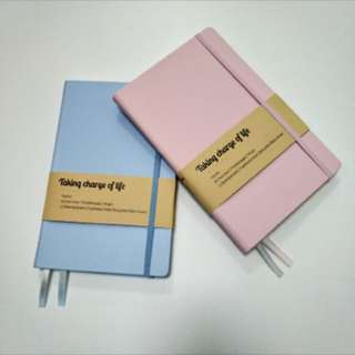 [INSTOCK] A5 Notebook | Bullet Journal | Dotted Grid: Beau Blue or Pink Lace