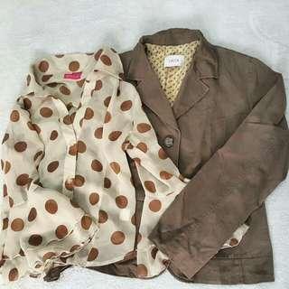 Flowy Sleeve + Brown Blazer
