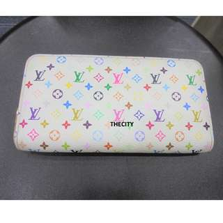 AUTHENTIC LOUIS VUITTON MONOGRAM MULTICOLOR ZIPPY LONG WALLET
