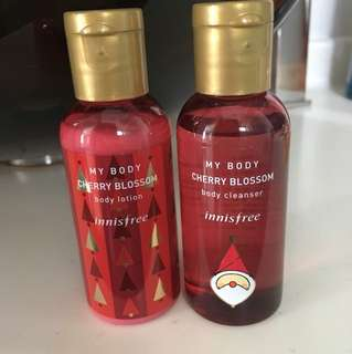 Innisfree Cherry Blossom cleanser & lotion (60ml)