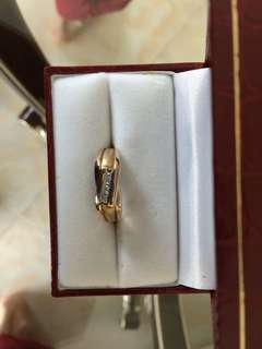 Men Women Unisex Gold Diamond Ring 10K
