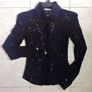 MNG Lace Top Long Sleeves