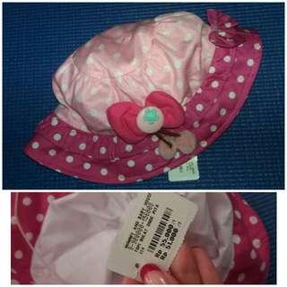 Topi bulat onde pita (pink)