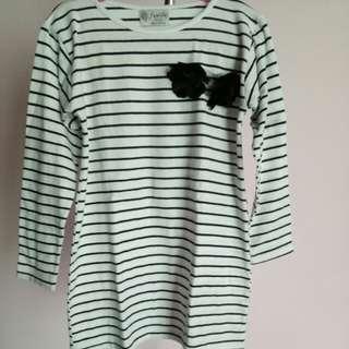 Strip dress