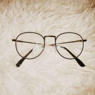 Black Rim Clear Glasses (Swipe Left)