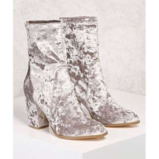 Katy Perry Silver Boots
