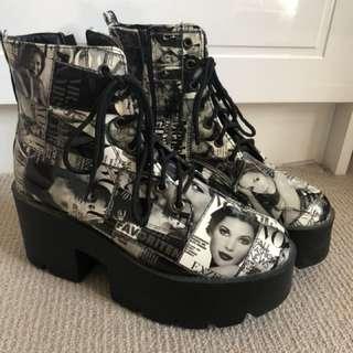 Magazine Cover Platform Shoes